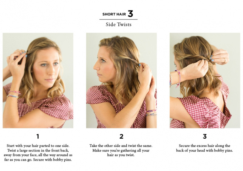Quick And Easy Ways To Style Hair Sides Twists 2 1 The Everygirl