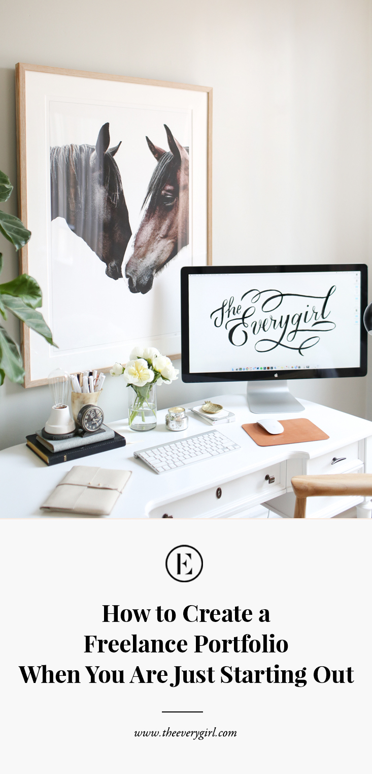 how to create a freelance portfolio when you are just