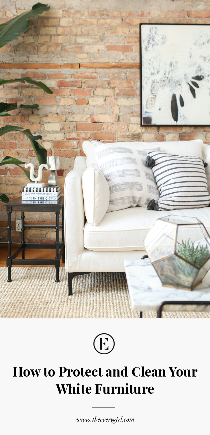 Awesome How To Protect And Clean Your White Furniture The Everygirl Dailytribune Chair Design For Home Dailytribuneorg