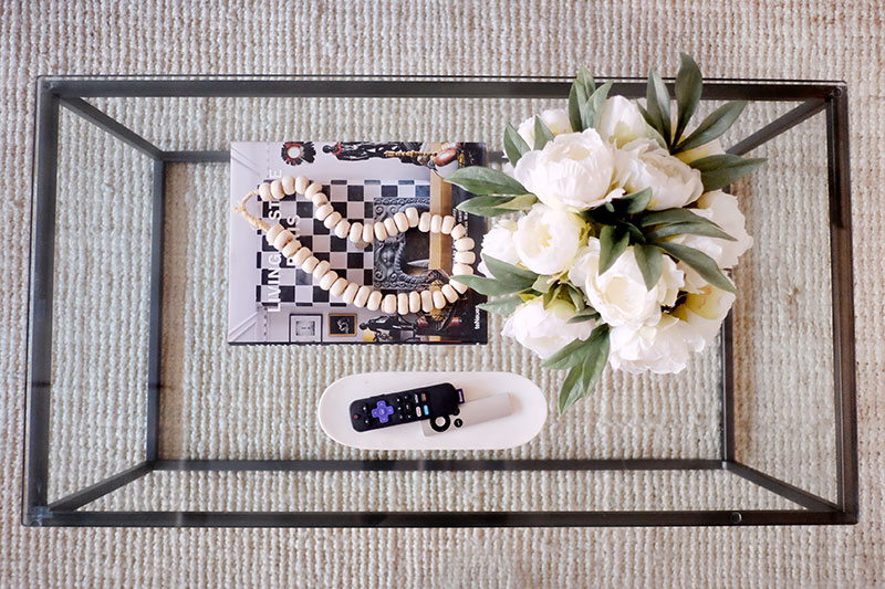 styled coffee table decor
