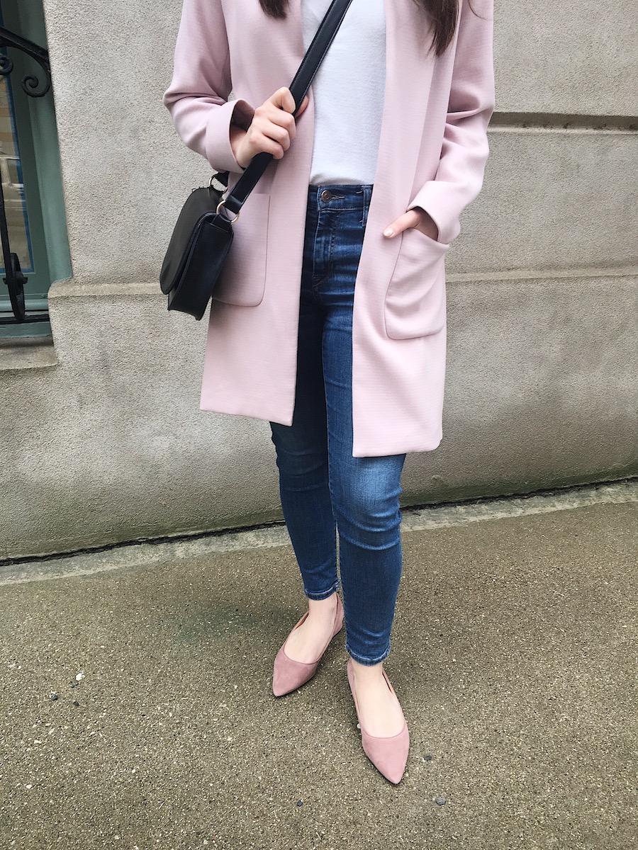 pink spring coat