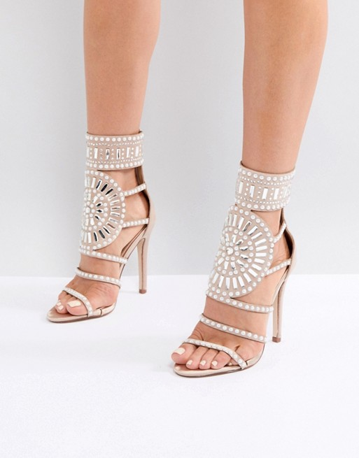 Taylor Glitter Rose Gold Ankle Strap Heels in 2019 | Gold