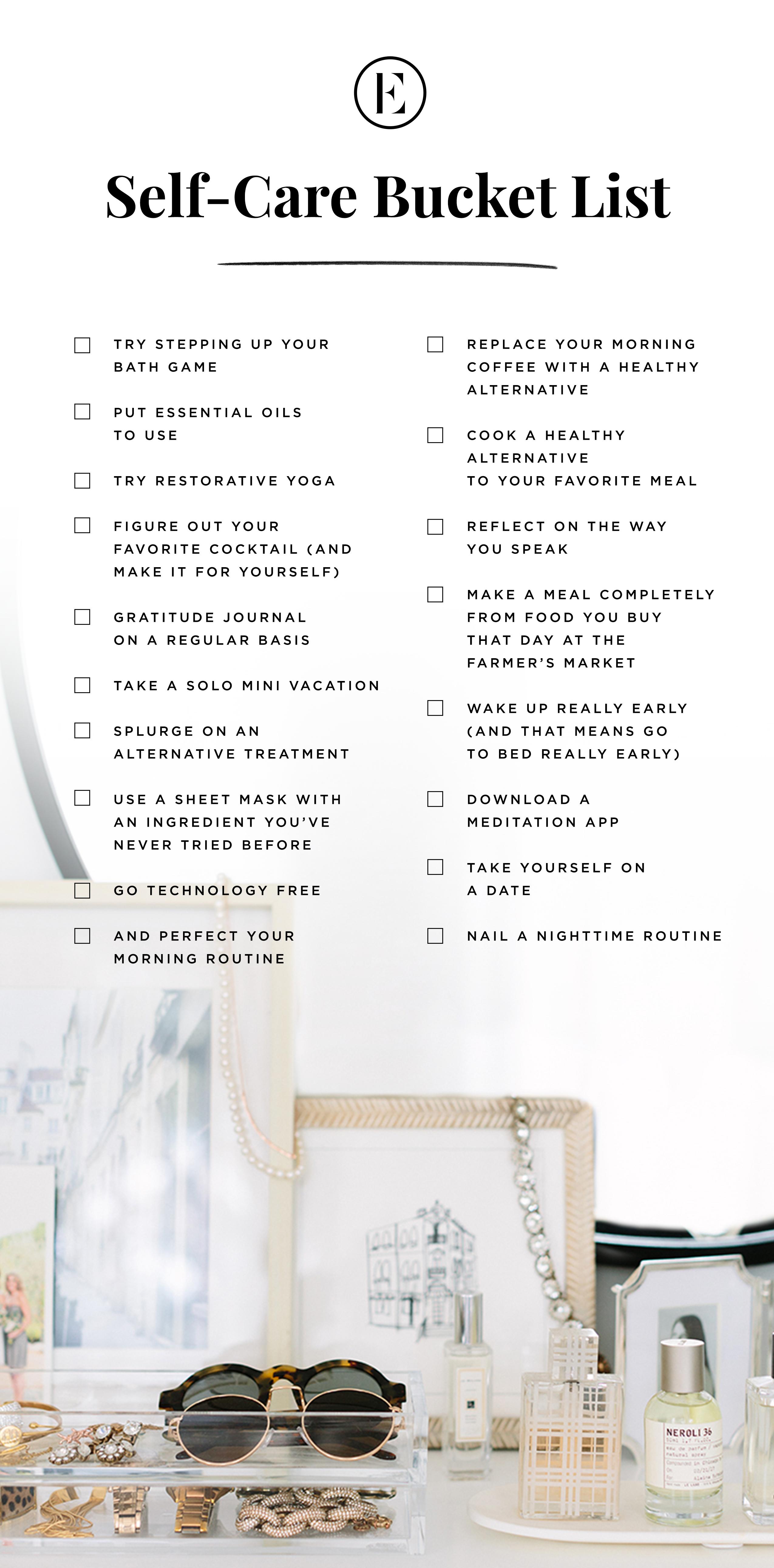 The Everygirl S Self Care Bucket List The Everygirl