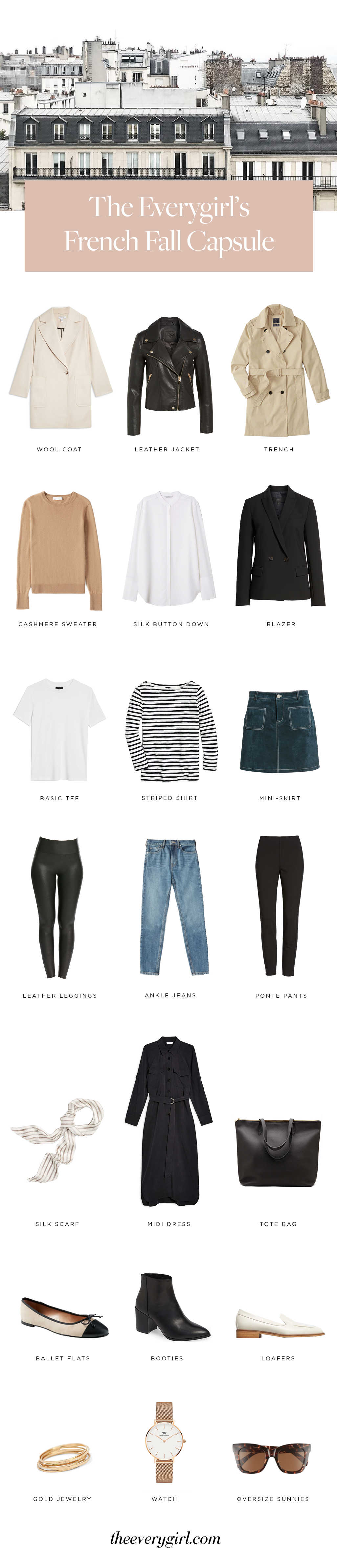How to Create a French Fall Capsule Wardrobe | The Everygirl