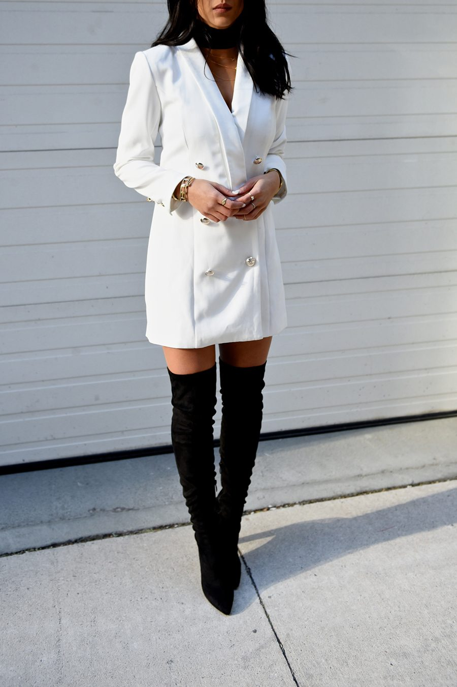 party dress and boots