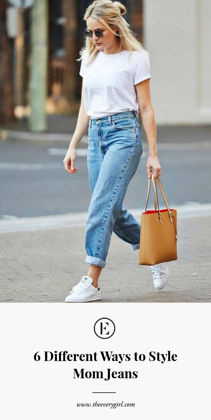 6 Different Ways to Style Mom Jeans The Everygirl  The Everygirl
