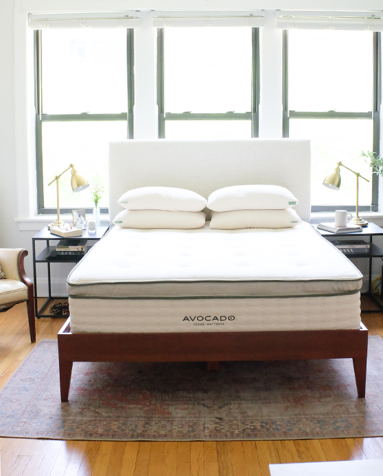 An Eco Chic Bedroom Makeover With Avocado Green Mattress