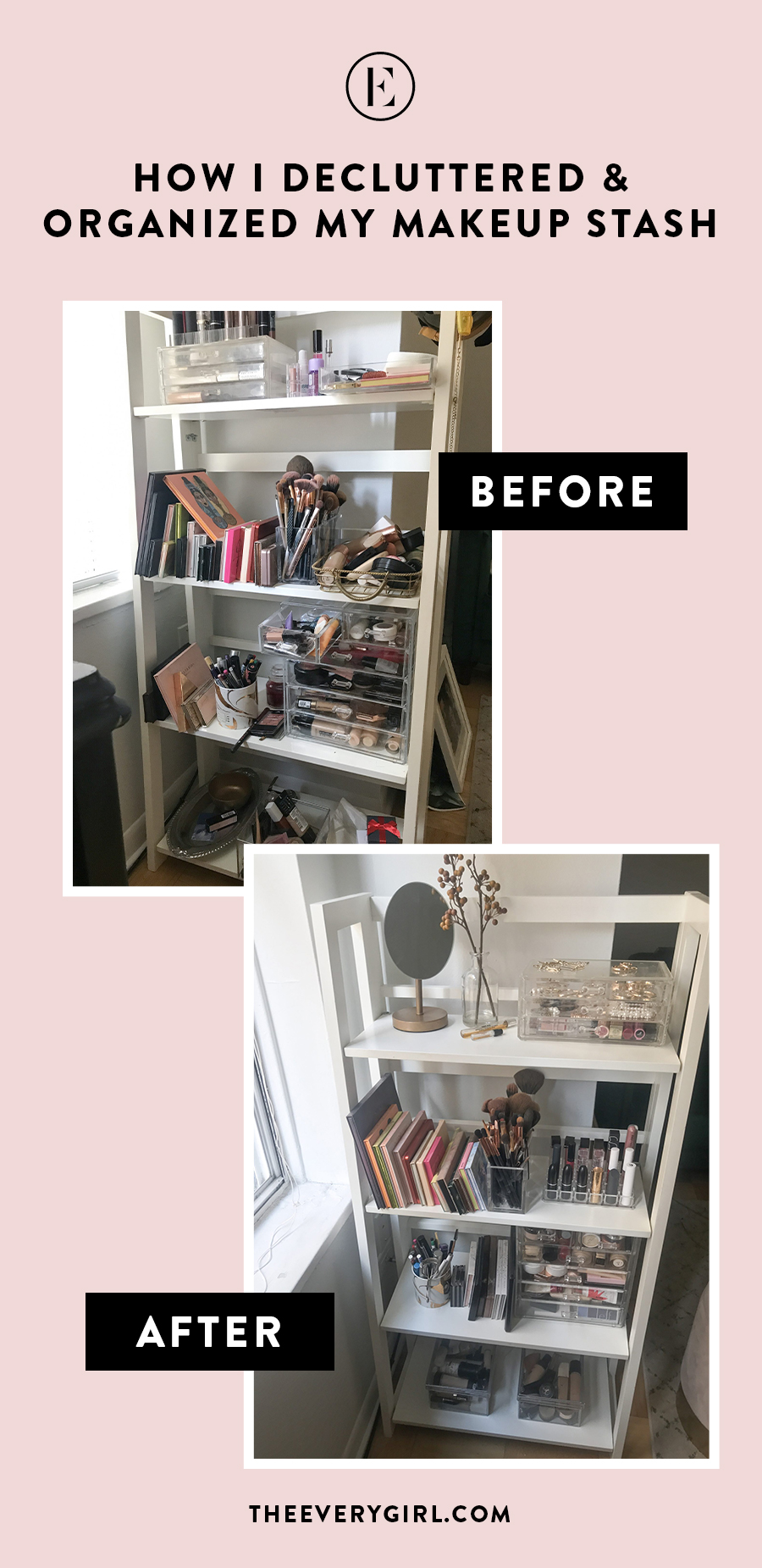 How I Decluttered And Organized My Makeup Stash The Everygirl
