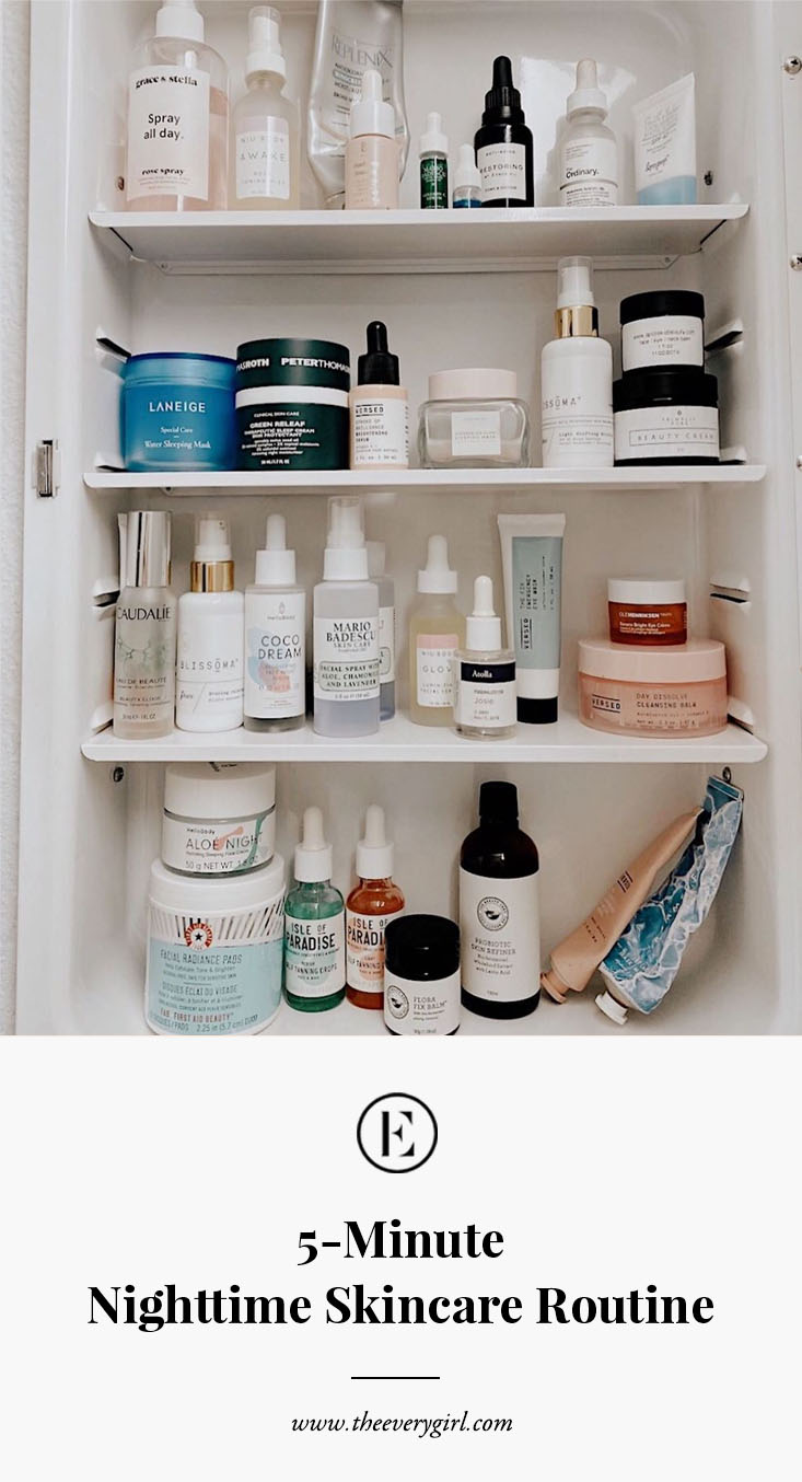 Your 12 Minute Nighttime Skincare Routine  The Everygirl
