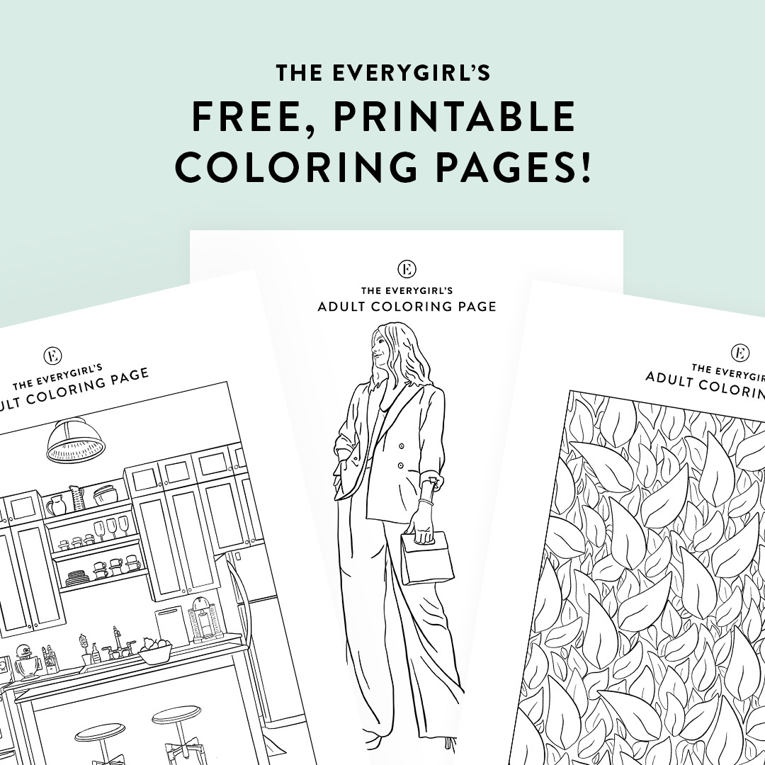 Week 3: The Everygirl's FREE Downloadable Coloring Pages - The