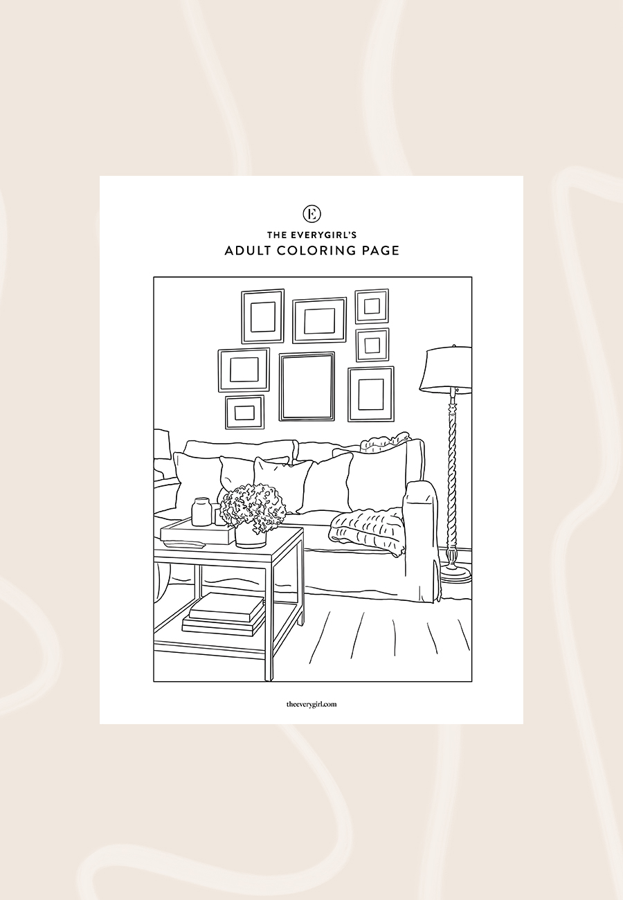 Week Two The Everygirl S Free Printable Coloring Pages The Everygirl