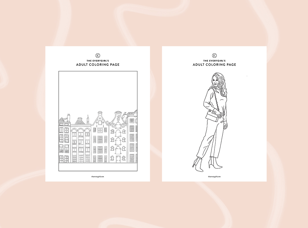 Week Four The Everygirl S Free Printable Coloring Pages The Everygirl