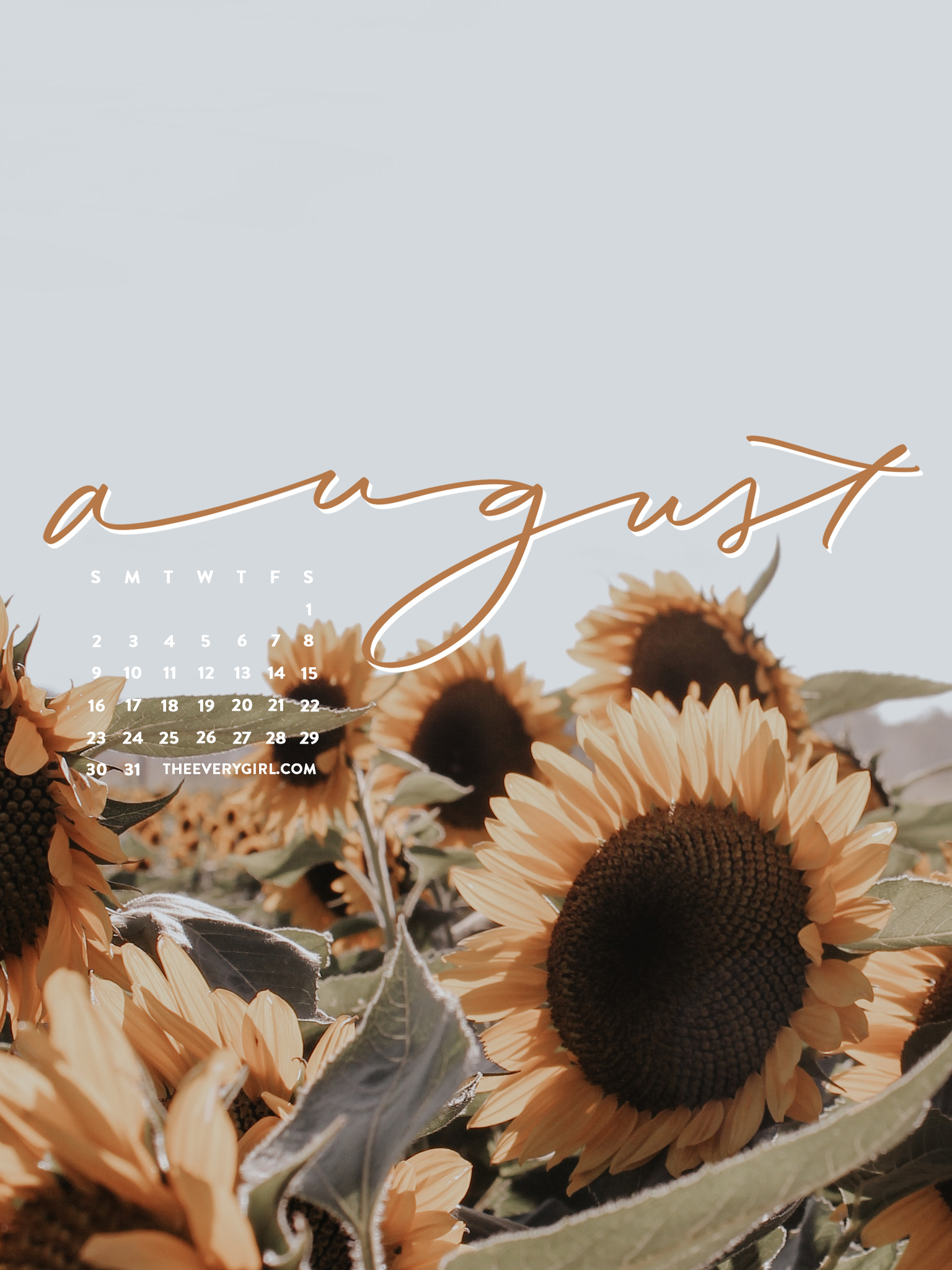 The Everygirl August Sunflowers Desktop - Tablet - The ...