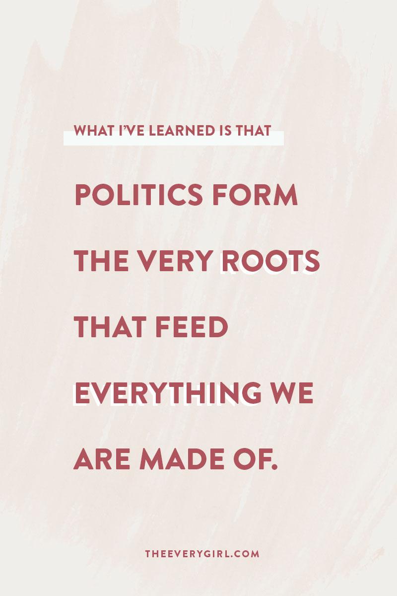 Qui vous aimez a plus à voir avec la politique que vous ne le pensez