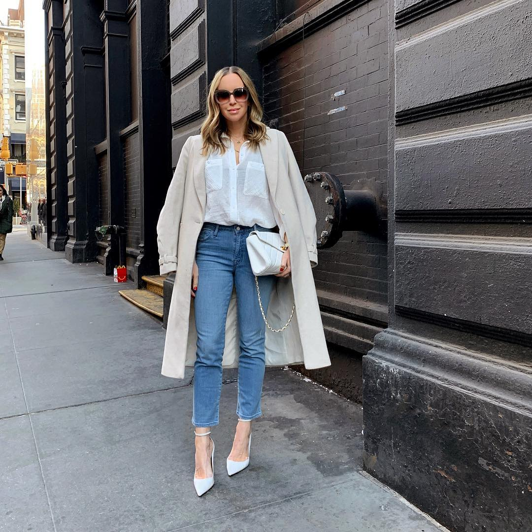 20 Ways to Style a Plain White Button Down   The Everygirl