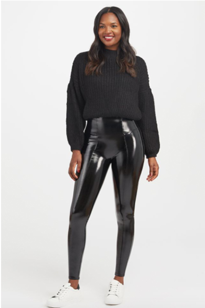 My Review of Spanx's Faux Leather Patent Leggings 2