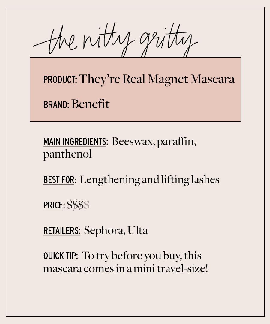 Examen du mascara: avantage qu'ils sont un vrai aimant
