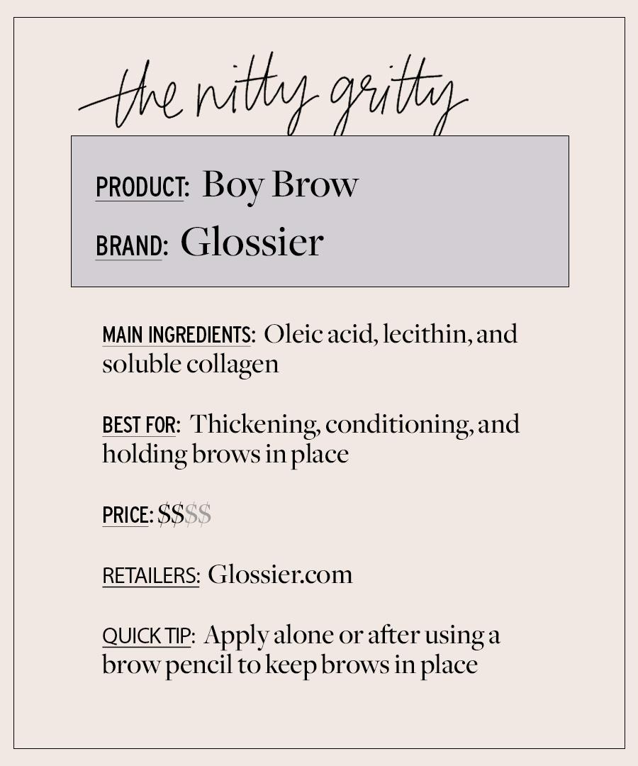 Glossier Boy Brow est un culte favori qui vaut le battage médiatique