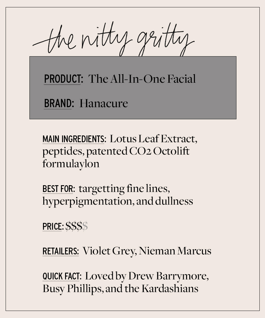 Un examen du masque facial Hanacure préféré des célébrités